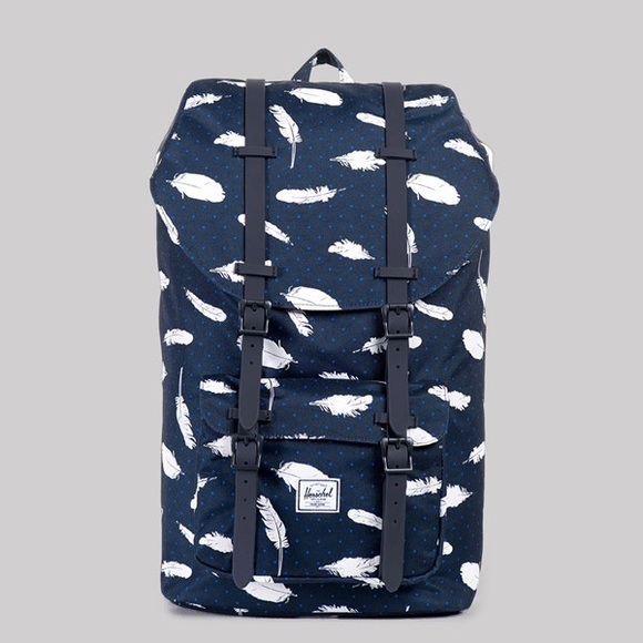 HERSCHEL Little America BlueWhite Feather Backpack